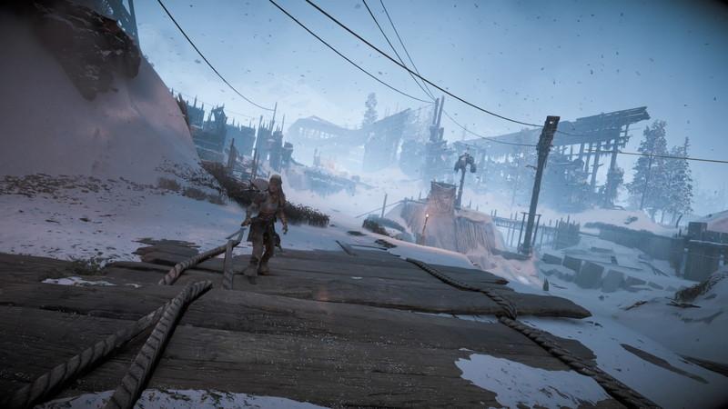 ホライゾン ゼロ・ドーン:ファロ社周辺の雪景色