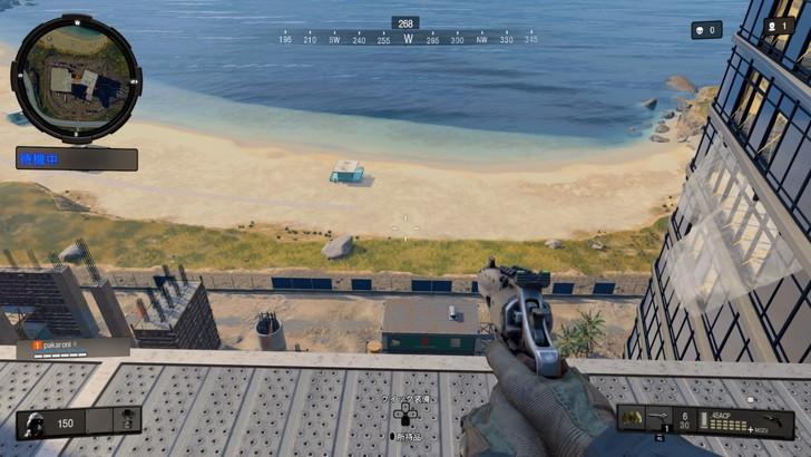 【ゲーム散歩】「ブラックアウト(BO4)」の島をゆっくり散策:「建設現場」屋上からの景色