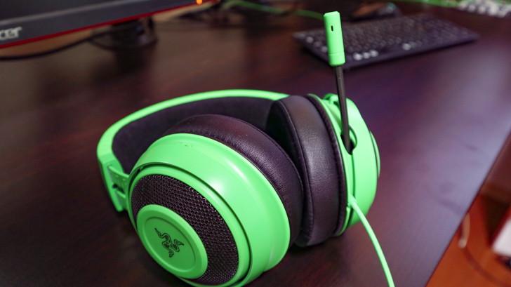 ゲーミングヘッドセット:Razer「Kraken Green」